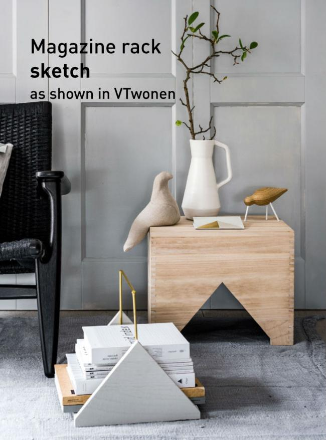Magazine rack - Please find here the DIY sketch to download with the sizes.  As shown in VTwonen magazine.&nbsp...