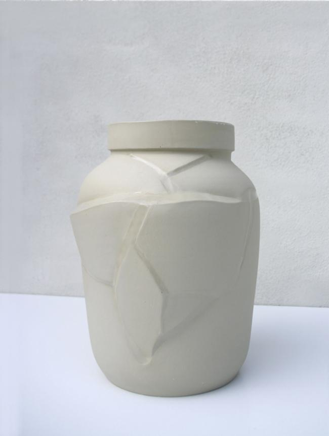 Tectonic vase / reglaze - The tectonic vase invites you to look at change differently. Just like shifts in the earth's c...